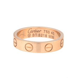 Cartier 18K Rose Gold Love Band Size 3.25