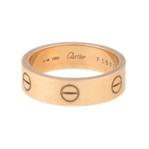 Cartier 18K Yellow Gold Love Ring Size 9.5
