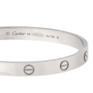 Cartier 18K White Gold Love Bracelet Size 18