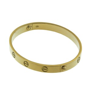 Cartier 18k Yellow Gold Love Bracelet Size 18