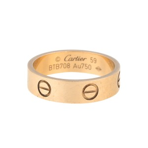 Cartier 18K Yellow Gold Love Ring Size 8.75