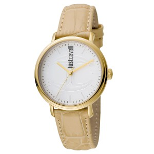 Just Cavalli Women's CFC Silver Dial Calfskin Leather Watch