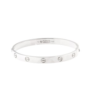 Cartier Love Bracelet 18K White Gold Size 18
