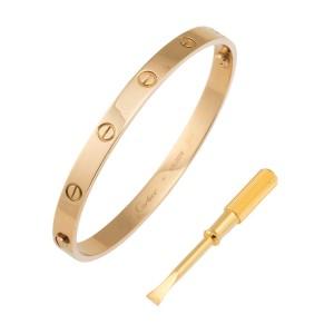 Cartier Love 18K Yellow Gold Bracelet Size 20