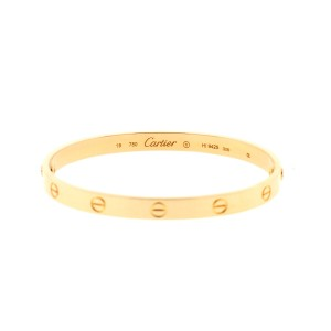 Cartier Rose Gold Love Bracelet Size 19