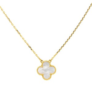 Van Cleef & Arpels Yellow Gold Vintage Alhambra Shell Necklace