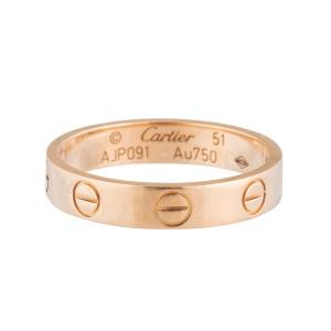 Cartier Rose Gold Mini Love Ring Sz 51