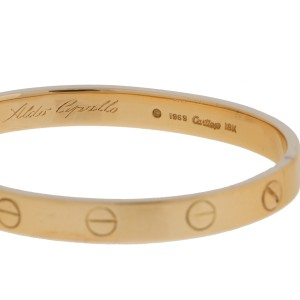 Cartier Love 18k Yellow Gold Bracelet Size 16