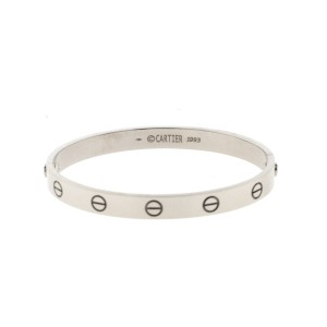 Cartier White Gold Love Bracelet Size 17