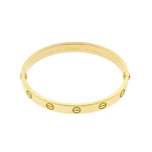 Cartier Yellow Gold Love Bracelet Size 16