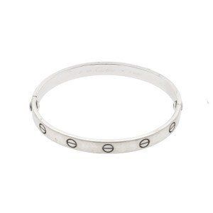 Cartier White Gold Love Bracelet Size 17