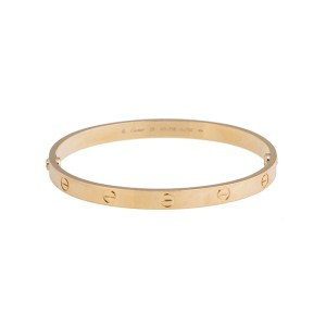 Cartier 18K Yellow Gold Love Bracelet Size 20