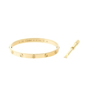 Cartier 18k Yellow Gold Love Bracelet Size 18