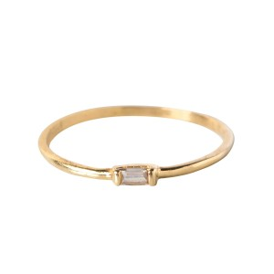 Catbird  14k Yellow Gold Baguette Diamond Ring