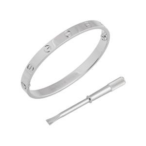 Cartier Love Bracelet  White Gold Size 17 B6035417