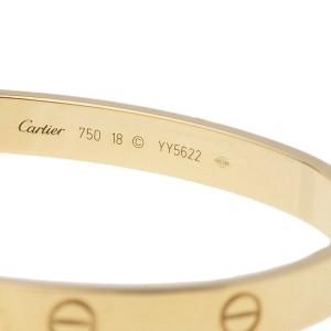Cartier Love Bracelet 18k Yellow Gold Size 18