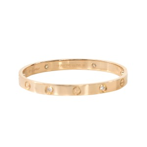 Cartier Love Bracelet Rose Gold with 4 Diamonds Size 16