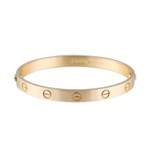 Cartier Love 18K Yellow Gold Bracelet Size 17