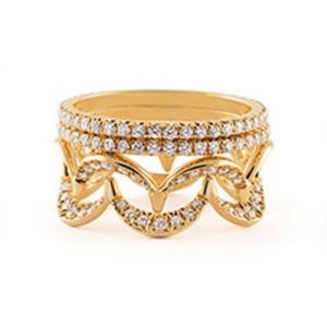 Jado Crown Sunshine Quartet 18k Yellow Gold Diamonds Ring