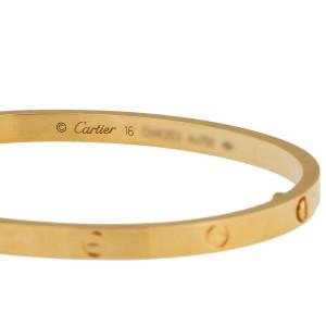 Cartier Mini Love 18K Yellow Gold Bracelet Size 16