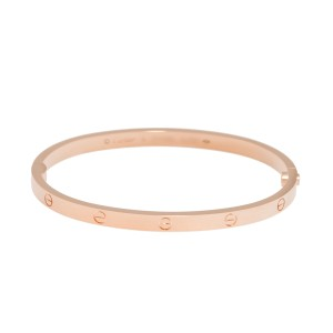 Cartier Mini Love 18K Rose Gold Bracelet Size 17