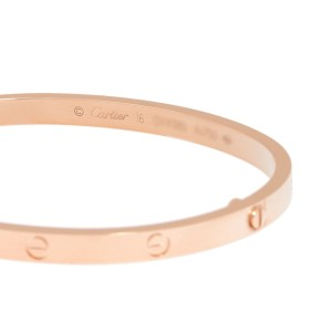 Cartier Mini Love 18K Rose Gold Bracelet Size 16