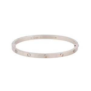 Cartier Mini Love 18K White  Gold Bracelet Size 16