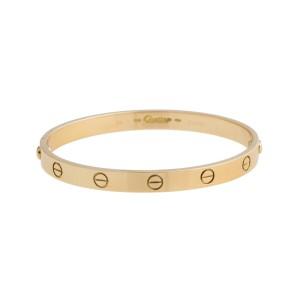 Cartier Love 18K Yellow Gold Bracelet Size 18