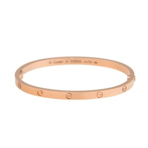 Cartier 18K Rose Gold Mini Love Bracelet Size 16
