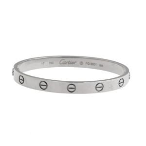 Cartier Love 18k White Gold Bracelet 17