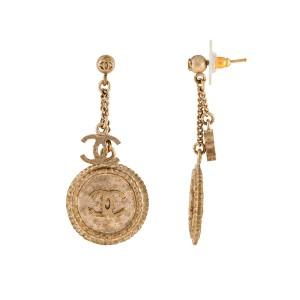 Chanel Clover Drop Earrings