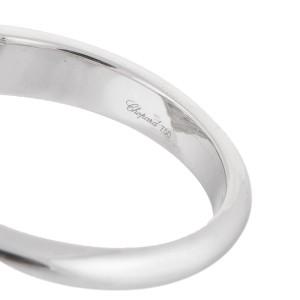 Chopard 18K White Gold Happy Diamond 0.65ct. Heart Ring Size 5.75