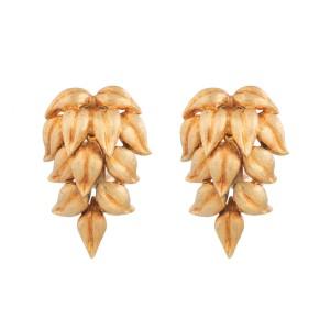 Cellino 18K Yellow Gold Flower Dangle Earrings