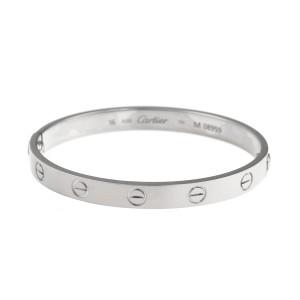 Cartier 18K White Gold Love Bracelet Size 16