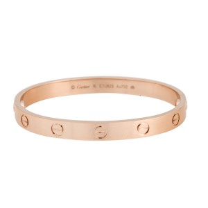 Cartier Love Bracelet 18K Rose Gold Size 16