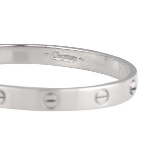 Cartier 18K White Gold Love Bracelet 17