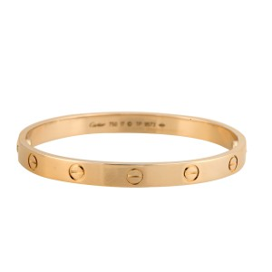 Cartier 18k Yellow Gold Love Size 17