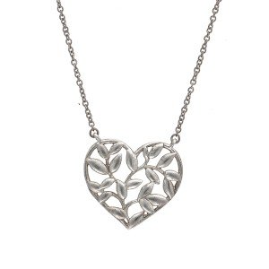 55ec36fab Sterling Silver Olive Leaf Heart Pendant Necklace | Tiffany & Co. | Buy at  TrueFacet
