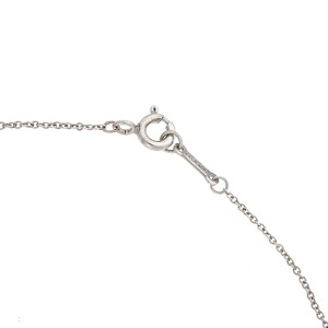 Tiffany & Co. Sterling Silver Olive Leaf Heart Pendant Necklace