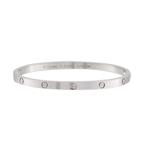 Cartier Love Bracelet 18k White Gold Small Model Size 15