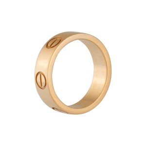 Cartier Love 18K Yellow Gold Ring Size 4.5