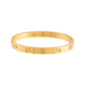 Cartier Love Bracelet 18K Yellow Gold Size 17