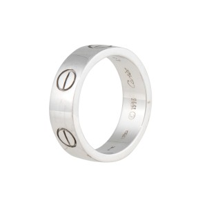 Cartier Love Ring 18K White Gold Size 5.75