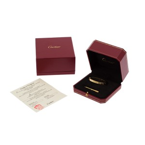 Cartier Love Yellow Gold  New Screw System Bracelet Size 16