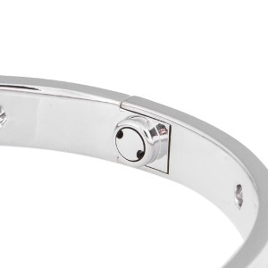Cartier Love Bracelet White Gold with 10 Diamonds Size 17