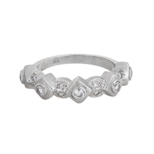 Doris Panos 18k White Gold 0.40ct Diamond Ring Size 7