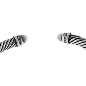 David Yurman Diamond Pearl Cable Bracelet