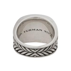 David Yurman Men's Sterling Silver Wave Ring Size 10