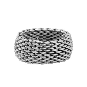 Tiffany & Co. Sterling Silver Mesh Ring