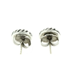 David Yurman Cable and Diamond Cookie Earrings